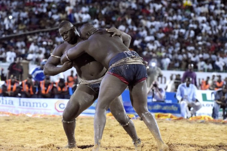 SENEGAL-WRESTLING-CELEBRITY