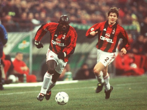 MILAN, ITALY - JANUARY 06: ITALIENISCHE LIGA 98/99; George WEAH/AC MAILAND - EINZELAKTION - (Photo by Alexander Hassenstein/Bongarts/Getty Images)