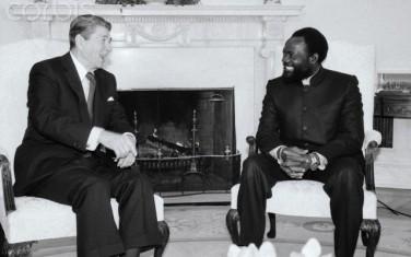 Ronald Reagan avec Jonas Savimbi