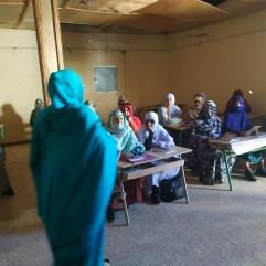 Cours pour les femmes sahraouies