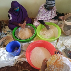 Préparation du couscous
